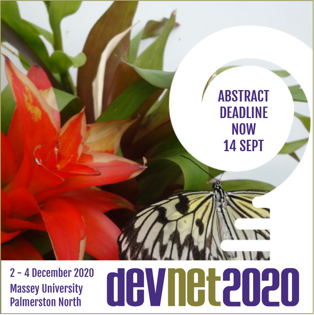 Deadline for DevNet2020 abstracts extended to 14 September