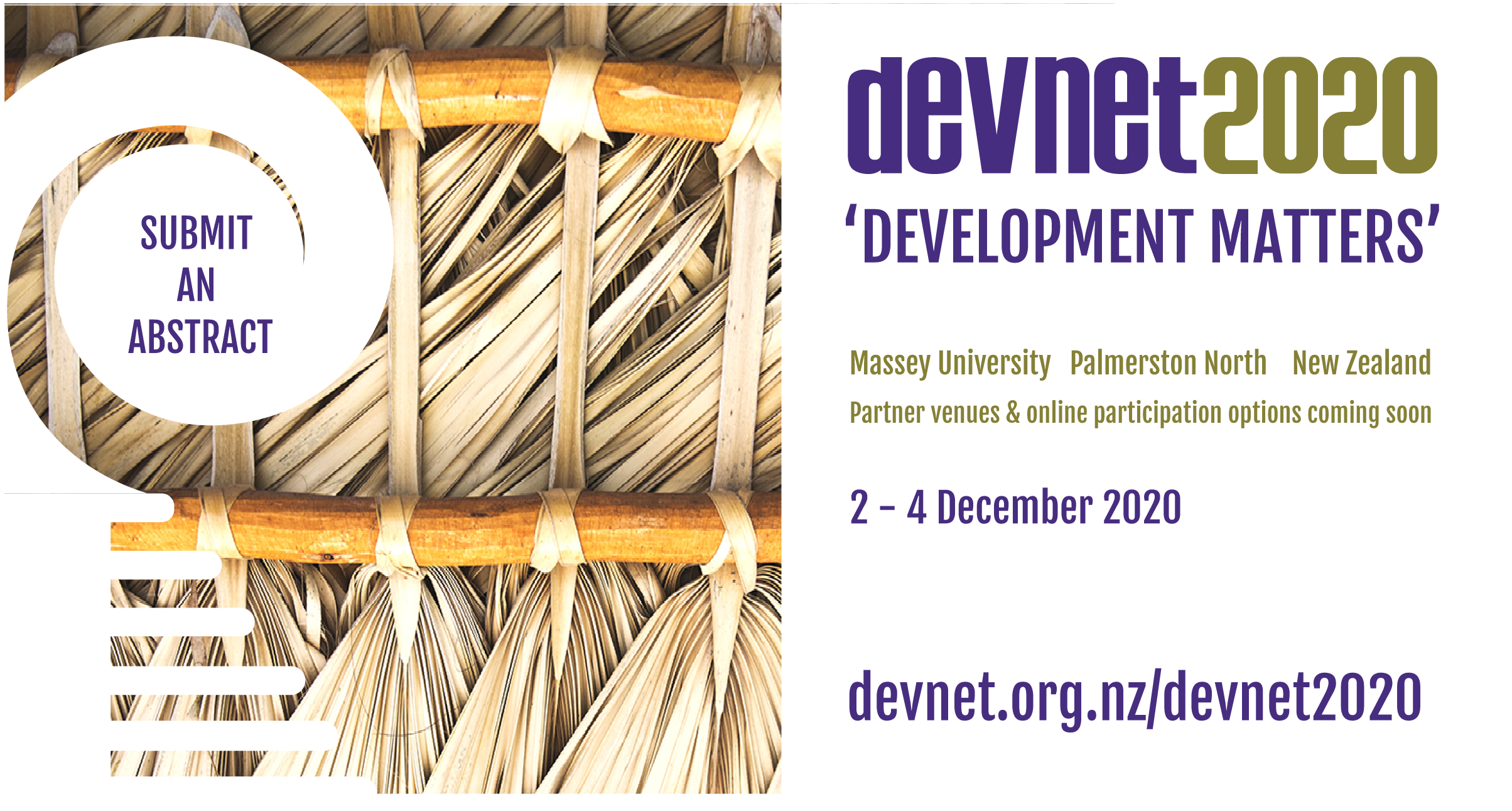 Submit an abstract for a research or applied presentation at DevNet2020 by 30 August 2020.